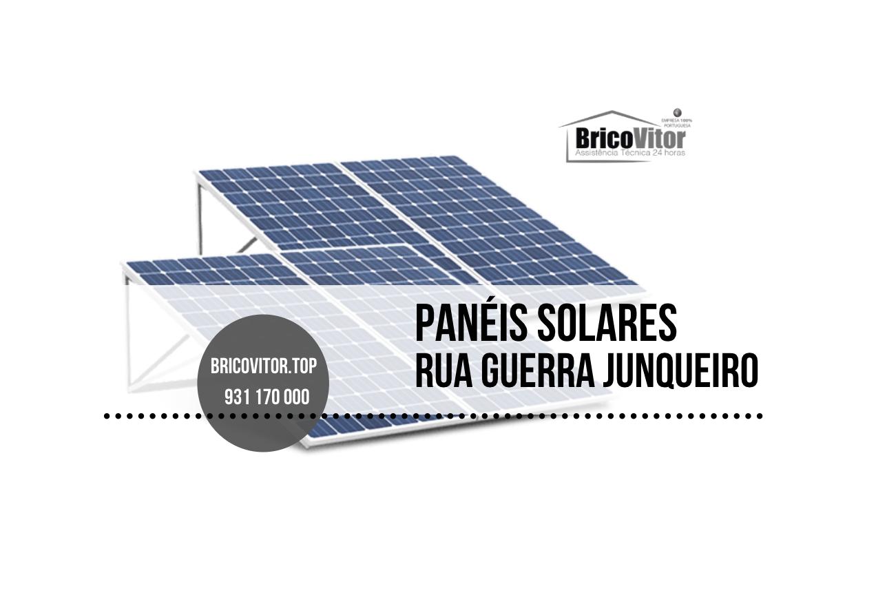 Manutenção Painéis Solares Rua Guerra Junqueiro